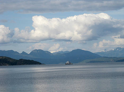 Ferry from Cortes Island by Nanci Cook
