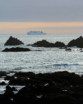 Ferry off Cape Terawhiti by Brian Puyear