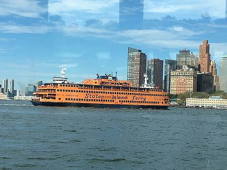 Ferry on the Hudson by Val Oconnor