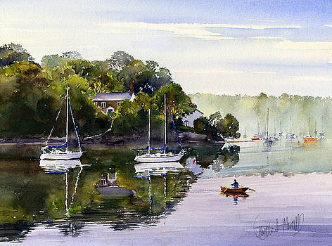 Ferrymans Cottage Malpas by Margaret Merry