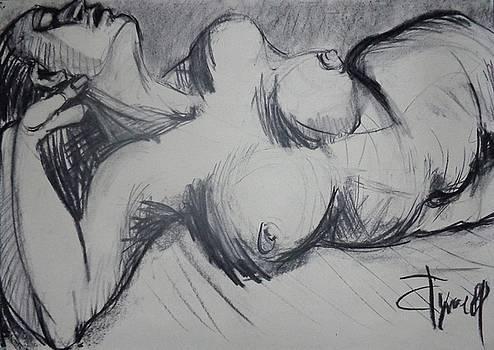 Fervent - Female Nude by Carmen Tyrrell