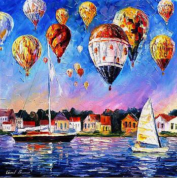 Festival Of Joy - PALETTE KNIFE Oil Painting On Canvas By Leonid Afremov by Leonid Afremov
