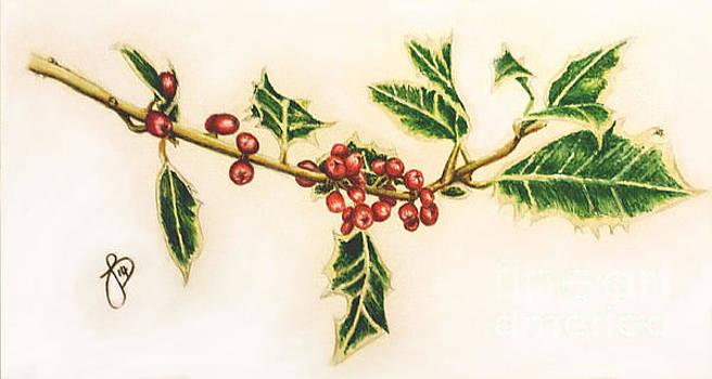 Festive Holly by Jeanette Hibbert