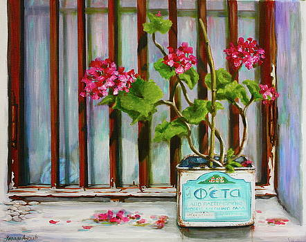 Yvonne Ayoub - Feta tin with Geraniums