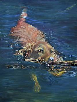Fetching The Stick by Stella Marin