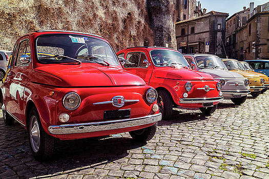Fiat 500's in Bracciano Italy by David Daniel