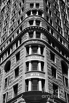 Fidelity Building Facade in Black and White Baltimore by James Brunker
