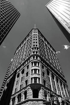 Fidelity Building in Black and White Baltimore by James Brunker