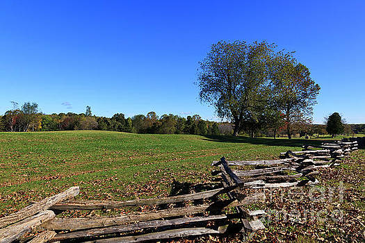 Field and Split Rail Fence at Appomattox by Jill Lang
