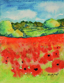 Field of Poppies by Brenda Jiral