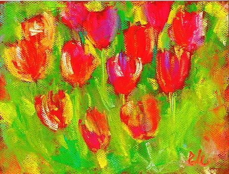 Field Of Tulips by Elena Malec
