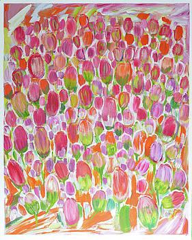 Field of Tulips II by Dianke Daffe-Rachow