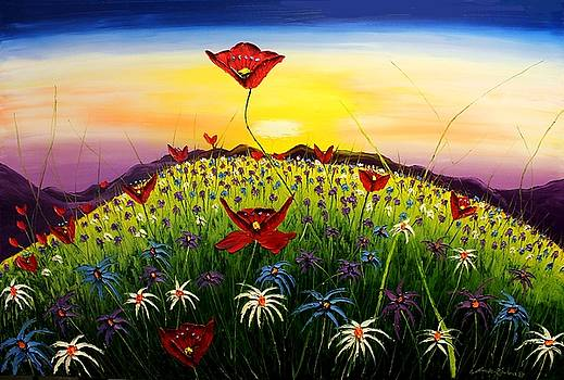 Field Of Wildflowers #12 by Portland Art Creations