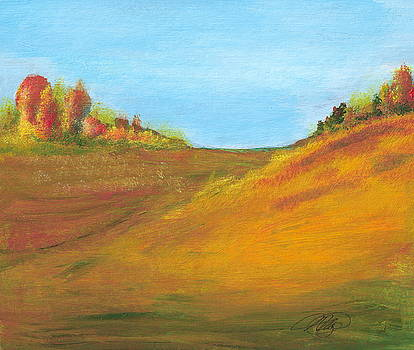 Fields in Fall by Vivian  Mosley