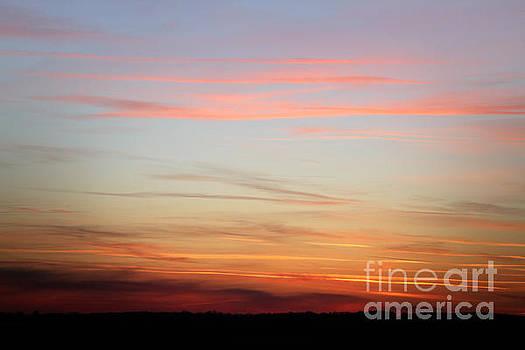 Fiery orange sunset sky - Beautiful sky by Dimitar Hristov
