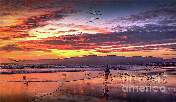 Fiery Sunset Jog moment in time by David Zanzinger