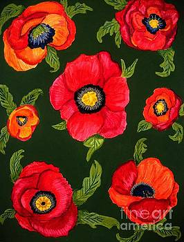 Fiery Poppies by Dawn Siegler