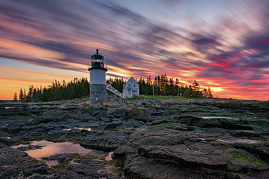 Fiery Sunrise at Marshall Point by Rick Berk