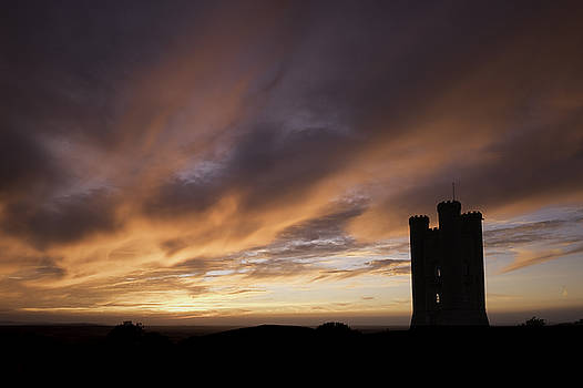 Fiery Sunset at Broadway Tower by Wendy Chapman
