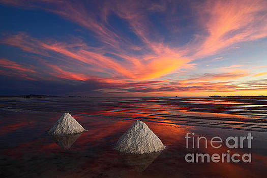 James Brunker - Fiery Sunset Over the Salar de Uyuni