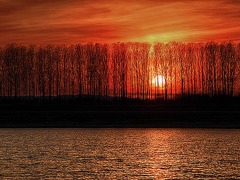 Fiery sunset by Plamen Petkov