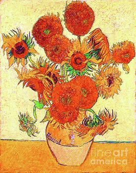 Fifteen Sunflowers by D Fessenden