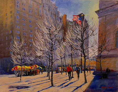 Fifth Avenue - Late Winter at the Met by Peter Salwen