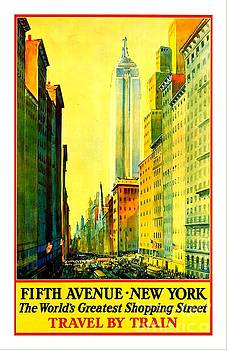 Peter Gumaer Ogden - Fifth Avenue New York Travel by Train 1932 Frederick Mizen