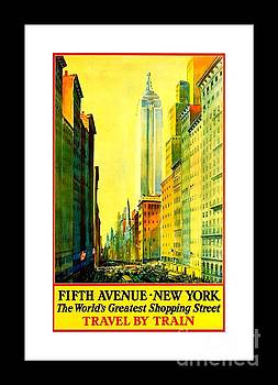 Peter Gumaer Ogden - Fifth Avenue New York Travel by Train 1932 II Frederick Mizen