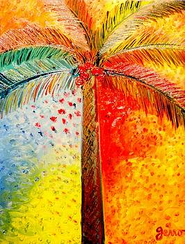 Fig Palm Sunset by Helen Gerro