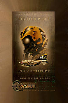 Fighter Pilot Is An Attitude Two by Peter Van Stigt
