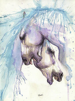 Fighting andalusian horses 2017 01 29 by Angel Tarantella