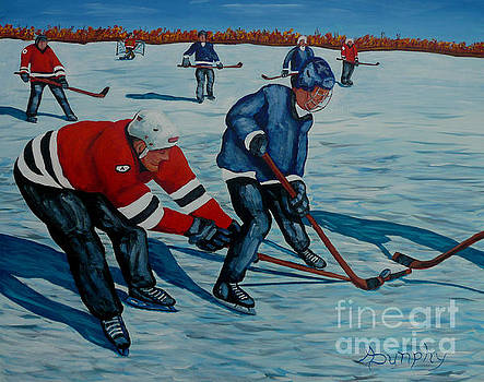 Fighting For The Puck by Anthony Dunphy