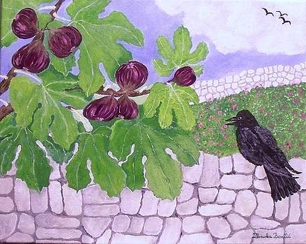 Figs with black Crow by Zdravka Boncic