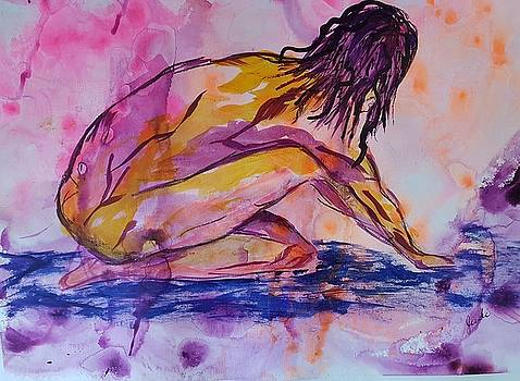 Figurative Abstract Nude 7 by Judi Goodwin