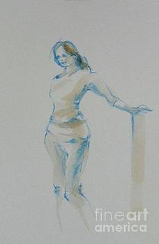 Figure Drawing by Cheryl Emerson Adams