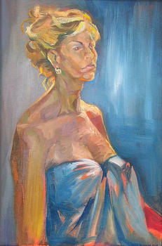 Figure in Blue by Julie Orsini Shakher