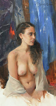 Figure in East Window Light by Anna Rose Bain