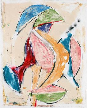 Figure with bowl by Rodney Mott