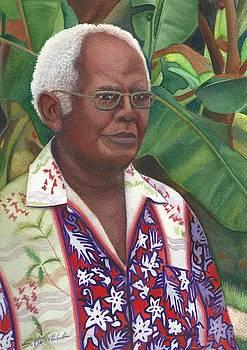 Fijian Elder Portrait by Sandi Howell
