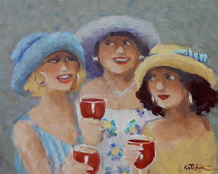 Fillies at the Derby by Carole Katchen