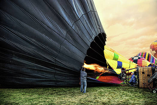 Filling the balloon by Stacey Sather