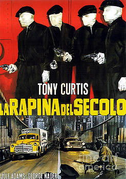 R Muirhead Art - Film Noir Poster Six Bridges to Cross Tony Curtis