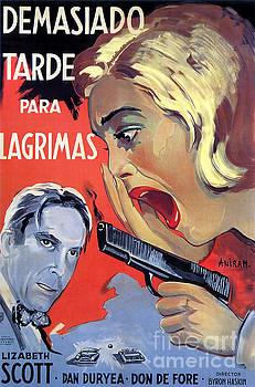 R Muirhead Art - Film Noir Poster Too Late for Tears