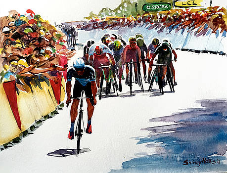Final Dash on Stage 6 - lge by Shirley Peters