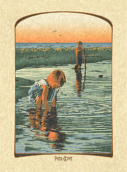 Finding Stones at Pier Cove by Antoinette Houtman