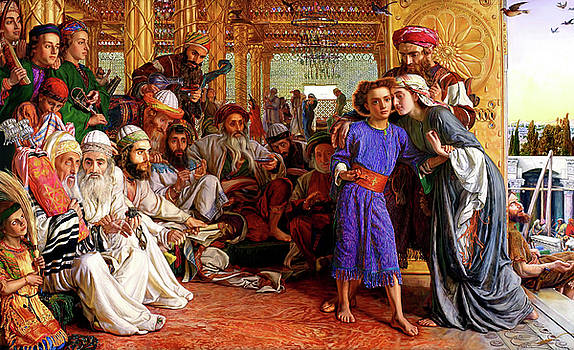 Finding the Savior in the Temple by William Holman Hunt
