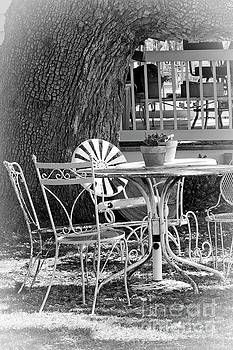 Fine Dining Country Style bw by Ella Kaye Dickey