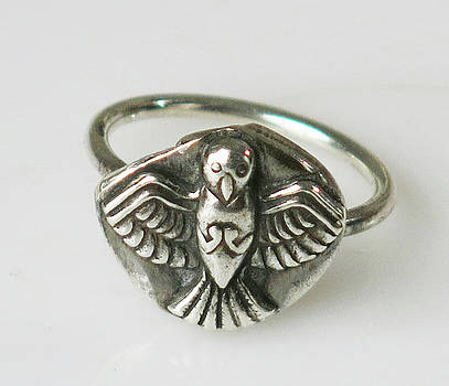 Fine Silver Bird Freedom Ring by Virginia Vivier
