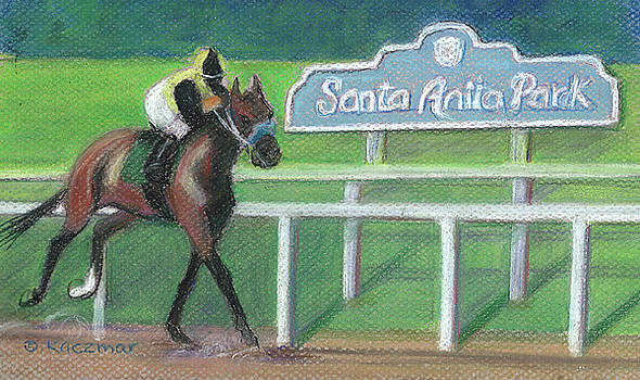 Finish at Santa Anita Park by Olga Kaczmar